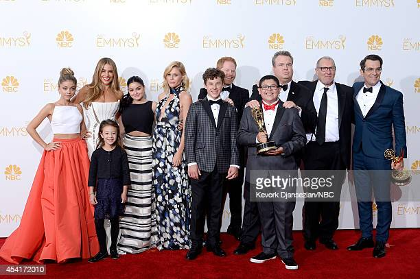 66th ANNUAL PRIMETIME EMMY AWARDS Pictured Actors Sarah Hyland Sofia Vergara Aubrey AndersonEmmons Ariel Winter Julie Bowen Jesse Tyler Ferguson...