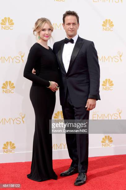 66th ANNUAL PRIMETIME EMMY AWARDS Pictured Actors Sophie Flack and Josh Charles arrive to the 66th Annual Primetime Emmy Awards held at the Nokia...
