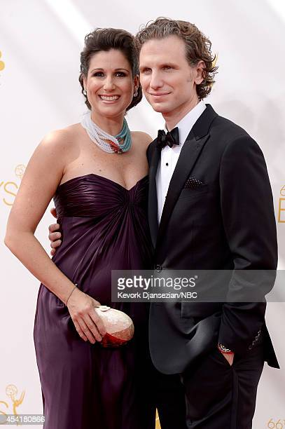 66th ANNUAL PRIMETIME EMMY AWARDS Pictured Actors Stephanie J Block and Sebastian Arcelus arrive to the 66th Annual Primetime Emmy Awards held at the...