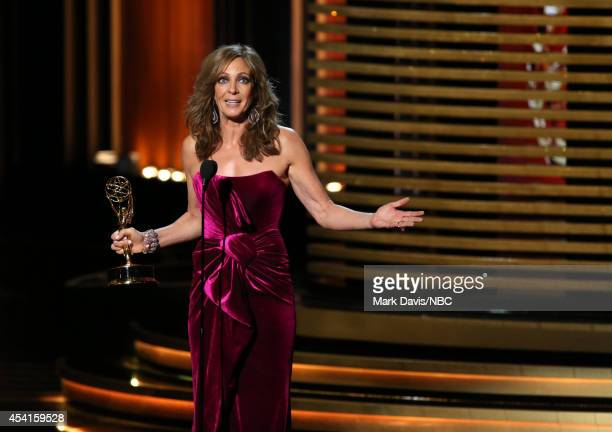 66th ANNUAL PRIMETIME EMMY AWARDS Pictured Actress Allison Janney accepts the Outstanding Supporting Actress in a Comedy Series award for 'Mom' on...