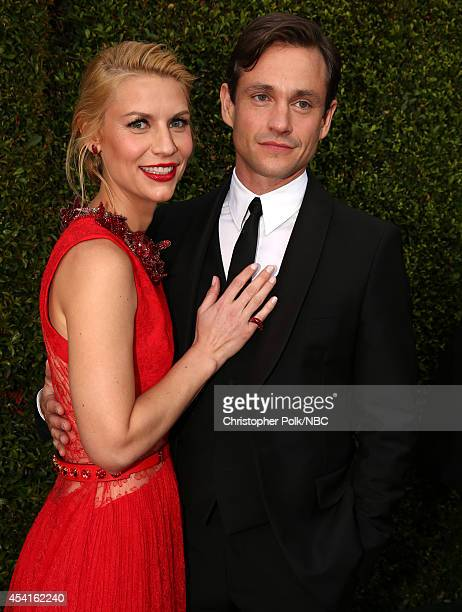 66th ANNUAL PRIMETIME EMMY AWARDS Pictured Actress Claire Danes and actor Hugh Dancy arrive to the 66th Annual Primetime Emmy Awards held at the...