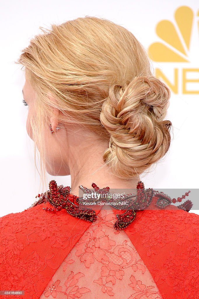 66th ANNUAL PRIMETIME EMMY AWARDS Pictured Actress Claire Danes arrives to the 66th Annual Primetime Emmy Awards held at the Nokia Theater on August...