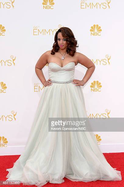 66th ANNUAL PRIMETIME EMMY AWARDS Pictured Actress Dascha Polanco arrives to the 66th Annual Primetime Emmy Awards held at the Nokia Theater on...