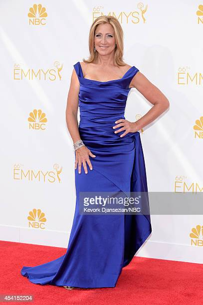 66th ANNUAL PRIMETIME EMMY AWARDS Pictured Actress Edie Falco arrives to the 66th Annual Primetime Emmy Awards held at the Nokia Theater on August 25...