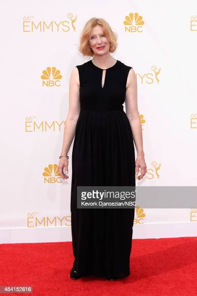 66th ANNUAL PRIMETIME EMMY AWARDS Pictured Actress Frances Conroy arrives to the 66th Annual Primetime Emmy Awards held at the Nokia Theater on...