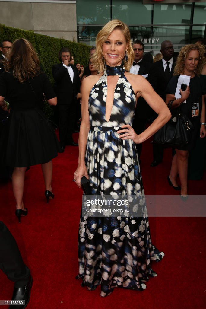 66th ANNUAL PRIMETIME EMMY AWARDS Pictured Actress Julie Bowen arrives to the 66th Annual Primetime Emmy Awards held at the Nokia Theater on August...