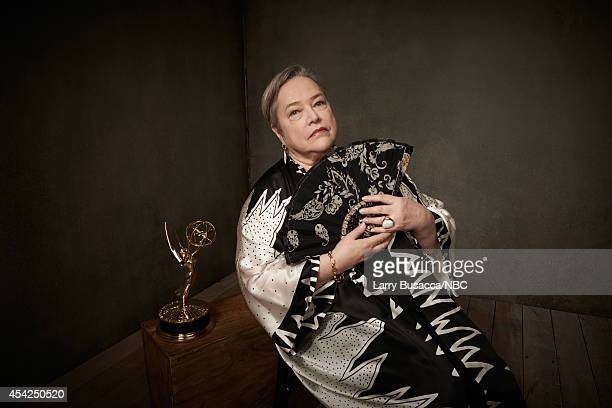 66th ANNUAL PRIMETIME EMMY AWARDS Pictured Actress Kathy Bates from 'American Horror Story Coven' poses in the NBC/People photo booth during the 66th...