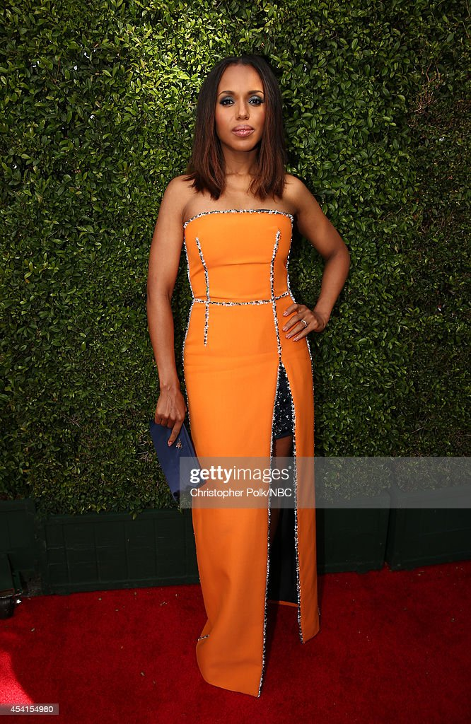 66th ANNUAL PRIMETIME EMMY AWARDS Pictured Actress Kerry Washington arrives to the 66th Annual Primetime Emmy Awards held at the Nokia Theater on...
