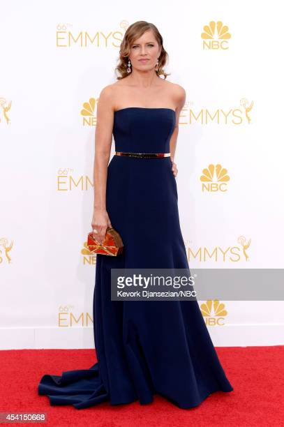 66th ANNUAL PRIMETIME EMMY AWARDS Pictured Actress Kim Dickens arrives to the 66th Annual Primetime Emmy Awards held at the Nokia Theater on August...