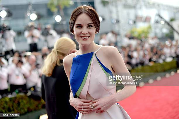 66th ANNUAL PRIMETIME EMMY AWARDS Pictured Actress Michelle Dockery arrives to the 66th Annual Primetime Emmy Awards held at the Nokia Theater on...