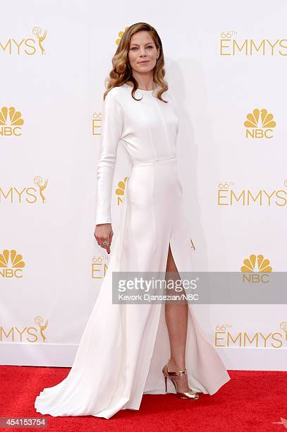 66th ANNUAL PRIMETIME EMMY AWARDS Pictured Actress Michelle Monaghan arrives to the 66th Annual Primetime Emmy Awards held at the Nokia Theater on...