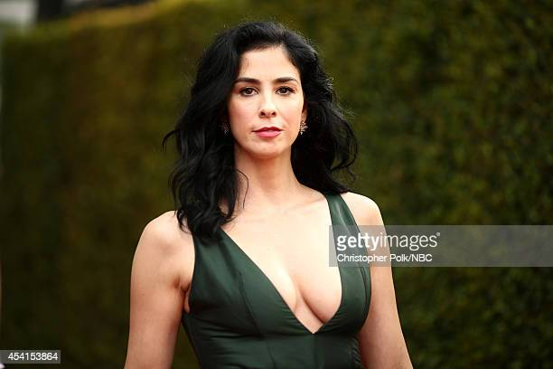 66th ANNUAL PRIMETIME EMMY AWARDS Pictured Comedienne Sarah Silverman arrives to the 66th Annual Primetime Emmy Awards held at the Nokia Theater on...