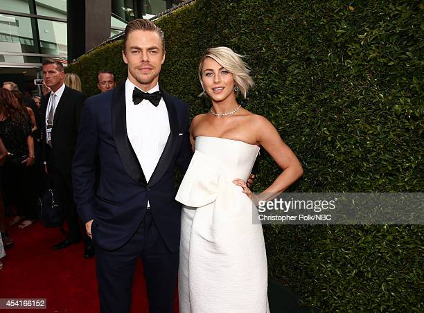 66th ANNUAL PRIMETIME EMMY AWARDS Pictured Derek Hough and Julianne Hough arrive to the 66th Annual Primetime Emmy Awards held at the Nokia Theater...