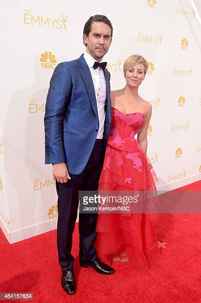 66th ANNUAL PRIMETIME EMMY AWARDS Pictured Ryan Sweeting and actress Kaley CuocoSweeting arrives to the 66th Annual Primetime Emmy Awards held at the...