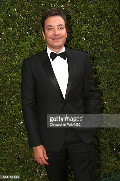 66th ANNUAL PRIMETIME EMMY AWARDS Pictured TV personality Jimmy Fallon arrives to the 66th Annual Primetime Emmy Awards held at the Nokia Theater on...