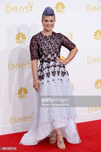 66th ANNUAL PRIMETIME EMMY AWARDS Pictured TV personality Kelly Osbourne arrives to the 66th Annual Primetime Emmy Awards held at the Nokia Theater...