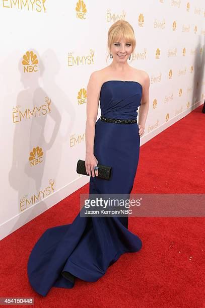 66th ANNUAL PRIMETIME EMMY AWARDS Pictured TV personality Melissa Rauch arrives to the 66th Annual Primetime Emmy Awards held at the Nokia Theater on...