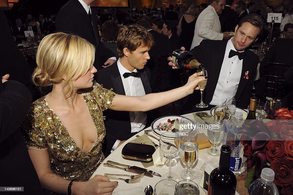 67th ANNUAL GOLDEN GLOBE AWARDS -- Pictured: (l-r) Anna Paquin, Ryan Kwanten, and Alexander Skarsgard during the 67th Annual Golden Globe Awards held at the Beverly Hilton Hotel on January 17, 2010 -- Photo by: Vince Bucci/NBCU Photo Bank