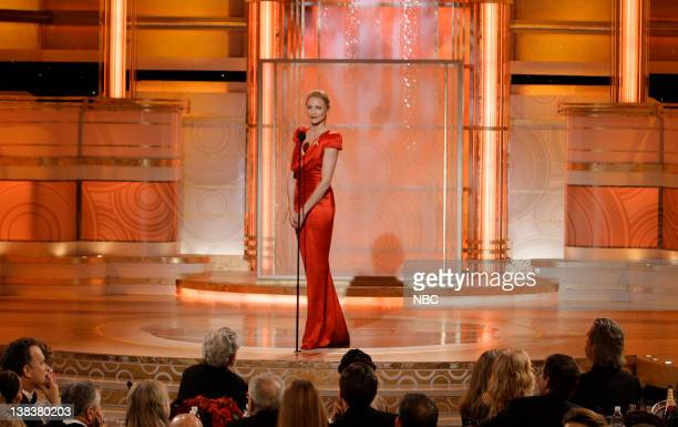 67th ANNUAL GOLDEN GLOBE AWARDS Pictured Cameron Diaz on stage during the 67th Annual Golden Globe Awards held at the Beverly Hilton Hotel on January...