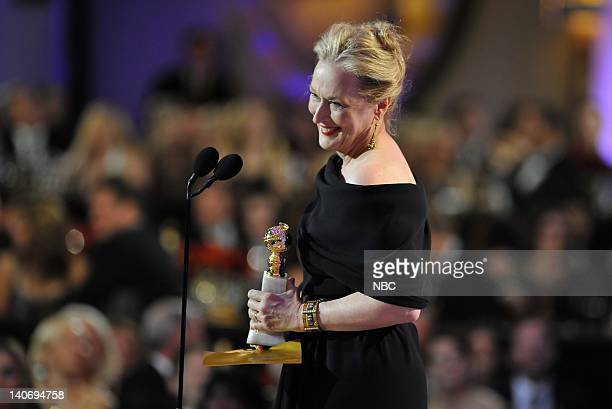 67th ANNUAL GOLDEN GLOBE AWARDS Pictured Meryl Streep on stage during the 67th Annual Golden Globe Awards held at the Beverly Hilton Hotel on January...
