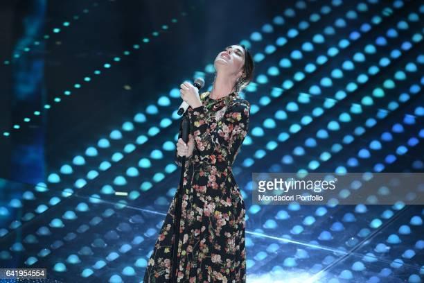 67th Sanremo Music Festival 5th night Bianca Atzei performs Sanremo February 11 2017
