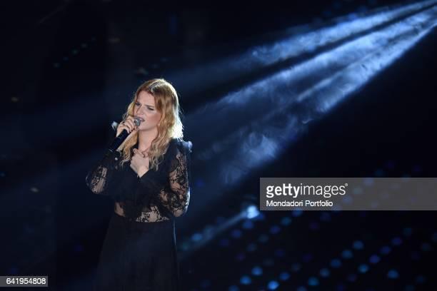 67th Sanremo Music Festival 5th night Chiara Galiazzo performs Sanremo February 11 2017
