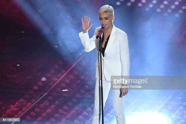 67th Sanremo Music Festival 5th night Elodie performs Sanremo February 11 2017