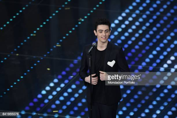 67th Sanremo Music Festival 5th night Michele Bravi performs Sanremo February 11 2017