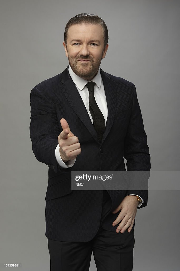 69th ANNUAL GOLDEN GLOBE AWARDS Pictured Host Ricky Gervais