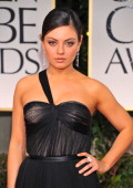 69th ANNUAL GOLDEN GLOBE AWARDS Pictured Mila Kunis arrives at the 69th Annual Golden Globe Awards held at the Beverly Hilton Hotel on January 15...