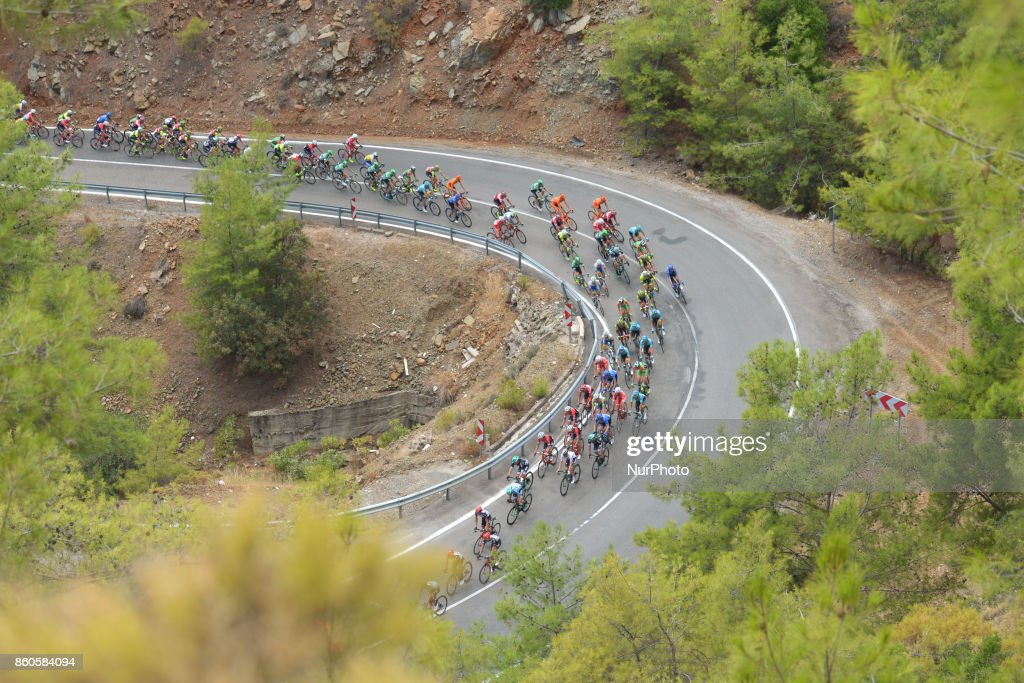 The peloton during the third stage - the 128.6km Spor Toto Fethiye to Marmaris stage of the 53rd Presidential Cycling Tour of Turkey 2017. On Thursday, 12 October 2017, in Marmaris, Turkey.