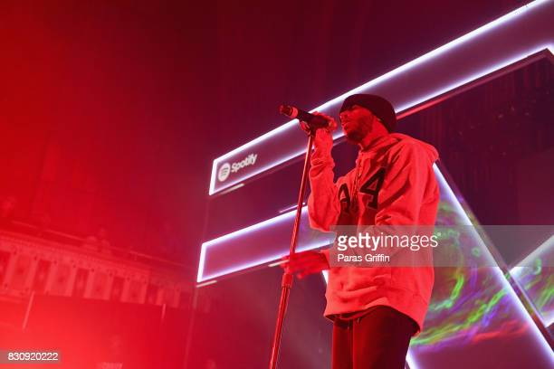 6lack onstage at Spotify's RapCaviar Live at The Tabernacle on August 12 2017 in Atlanta Georgia