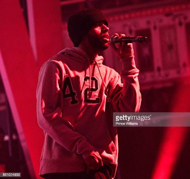 6lack Performs at RapCaviar at The Tabernacle on August 12 2017 in Atlanta Georgia