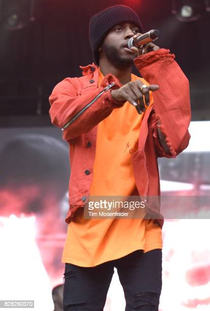 6lack performs during Lollapalooza 2017 at Grant Park on August 6 2017 in Chicago Illinois