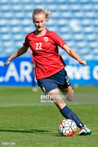 Anja Sønstevold of Norway Women during the match between Norway v Japan Women's Algarve Cup on March 3rd 2017 in Loulé Portugal