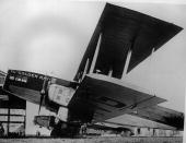 French Air Union's fleet Bleriot Golden Ray passenger planes at Le Bourget aerodrome near Paris celebrating the tenth anniversary of the airline's...