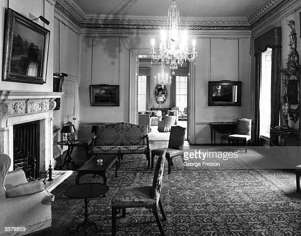The reception room at 10 Downing Street the official London residence of the British Prime Minister