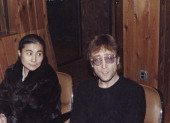 John Lennon from The Beatles posed with his wife Yoko Ono at the Hit Factory recording studio in New York on 6th December 1980 Lennon was shot dead...