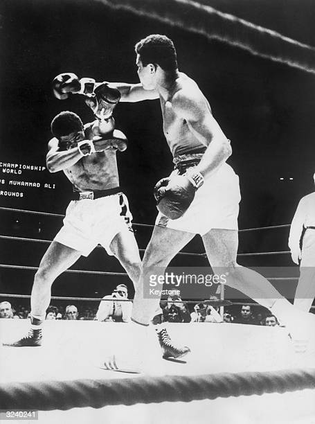 World Heavyweight boxing champion Muhammad Ali defends his title against Ernie Terrell also gaining the WBA title