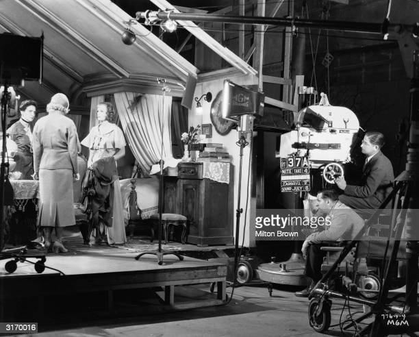 Richard Boleslawski directs Greta Garbo in 'The Painted Veil' based on the novel by W Somerset Maugham