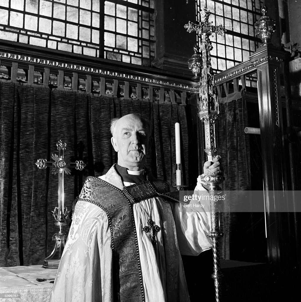 Dr Geoffrey Fisher (1887-1972), Archbishop of Canterbury who will perform Queen Elizabeth II's coronation ceremony. Original Publication: Picture Post - 6530 - The Man Who Will Crown The Queen - pub. 1953