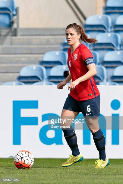 Maren Mjelde of Norway Women during the match between Norway v Japan Women's Algarve Cup on March 3rd 2017 in Loulé Portugal