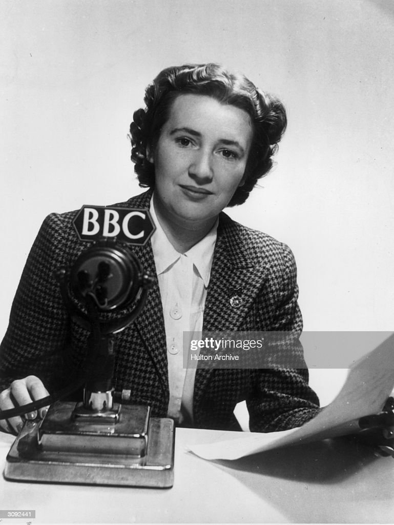 Jean Metcalfe announcer with the BBC Overseas Service