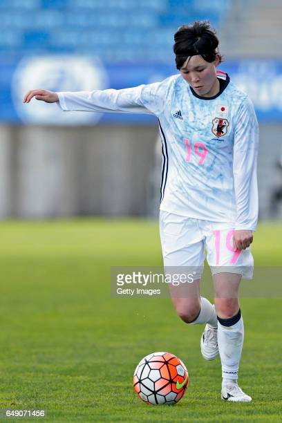 Mayu Sasaki of Japan Women during the match between Norway v Japan Women's Algarve Cup on March 3rd 2017 in Loulé Portugal
