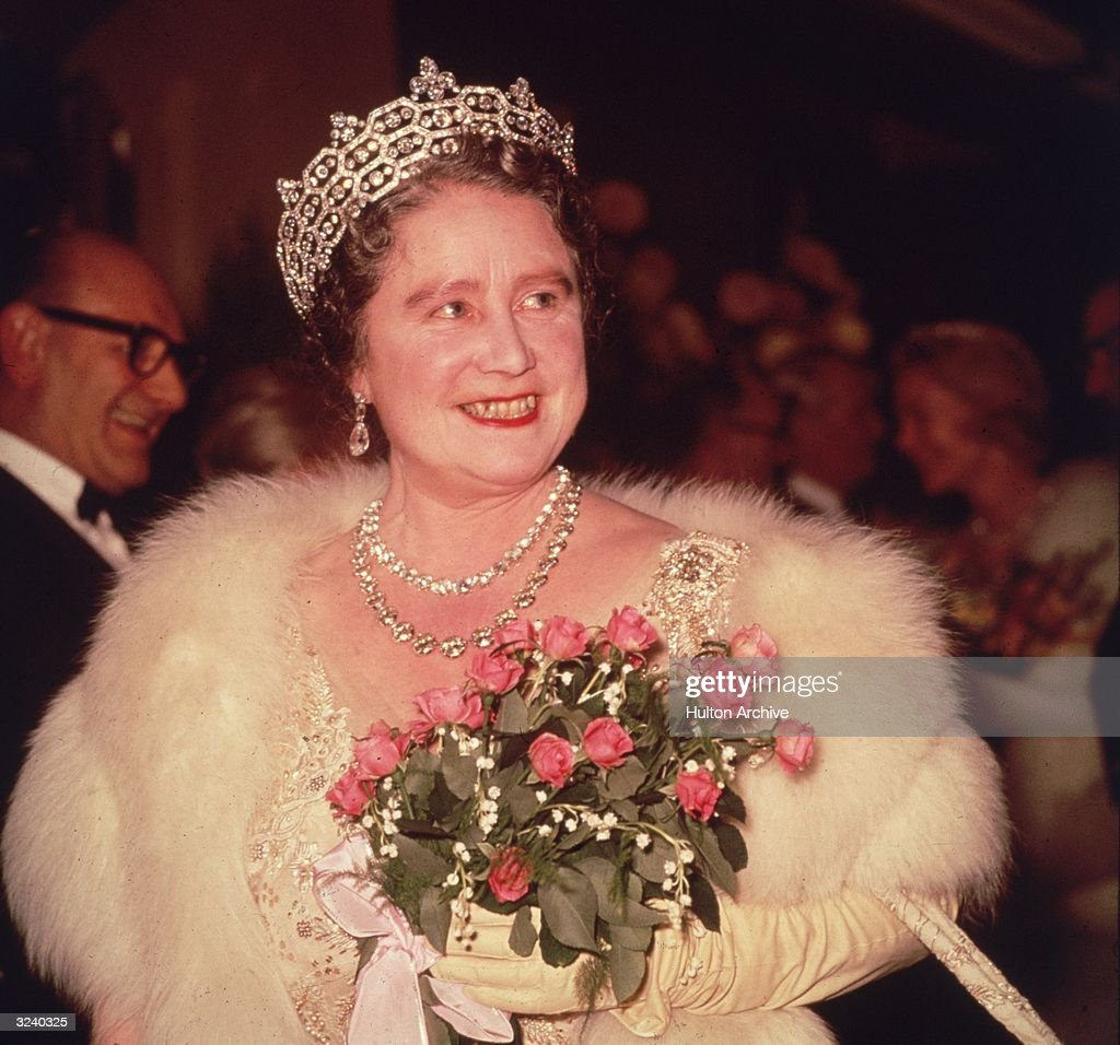 The Queen Mother (1900 - 2002) at the Royal Variety Performance held at the Prince of Wales Theatre.