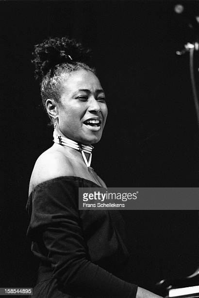 American pianist Geri Allen performs live on stage at the BIM Huis in Amsterdam Netherlands on 6th November 1987