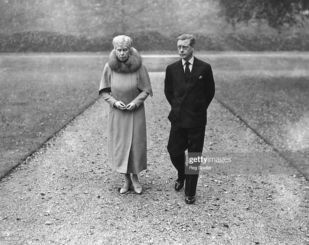 The Duke of Windsor (1894 - 1972), the former King Edward VIII, at Marlborough House with his mother, Queen Mary (1867 - 1953). It is the first time they have met in nine years.