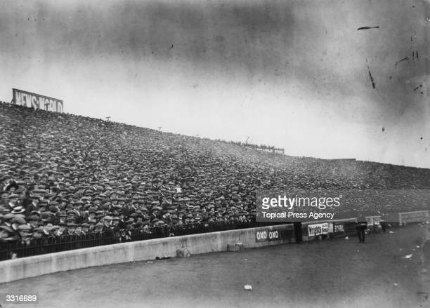 A section of the crowd at Stamford Bridge London for the match between Chelsea and Tottenham Hotspur