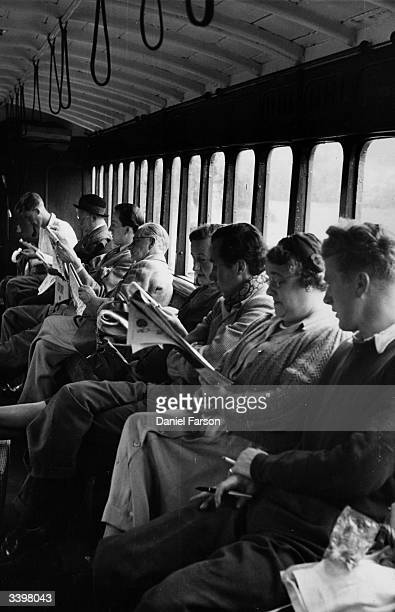 Local extras waiting for their scene in the new Ealing comedy film 'The Titfield Thunderbolt' Original Publication Picture Post 6043 The Thunderbolt...