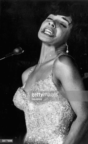 Singer Shirley Bassey performing at the Pigalle London where she is paid £1000 a week